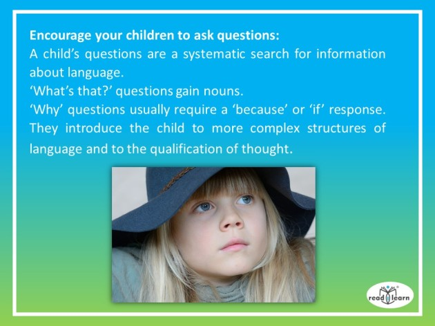 Encourage your children to ask questions